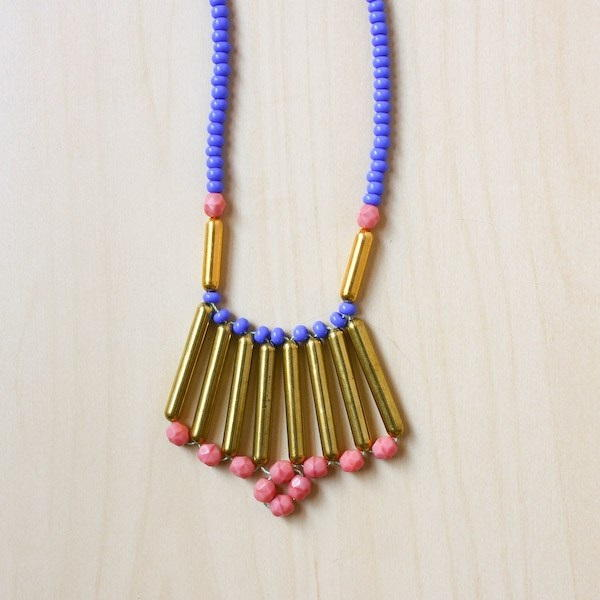 Tribal Right Angle Weave Necklace