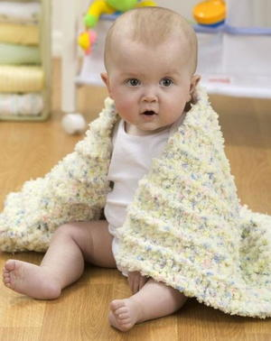The Coziest Crocheted Baby Blanket Ever