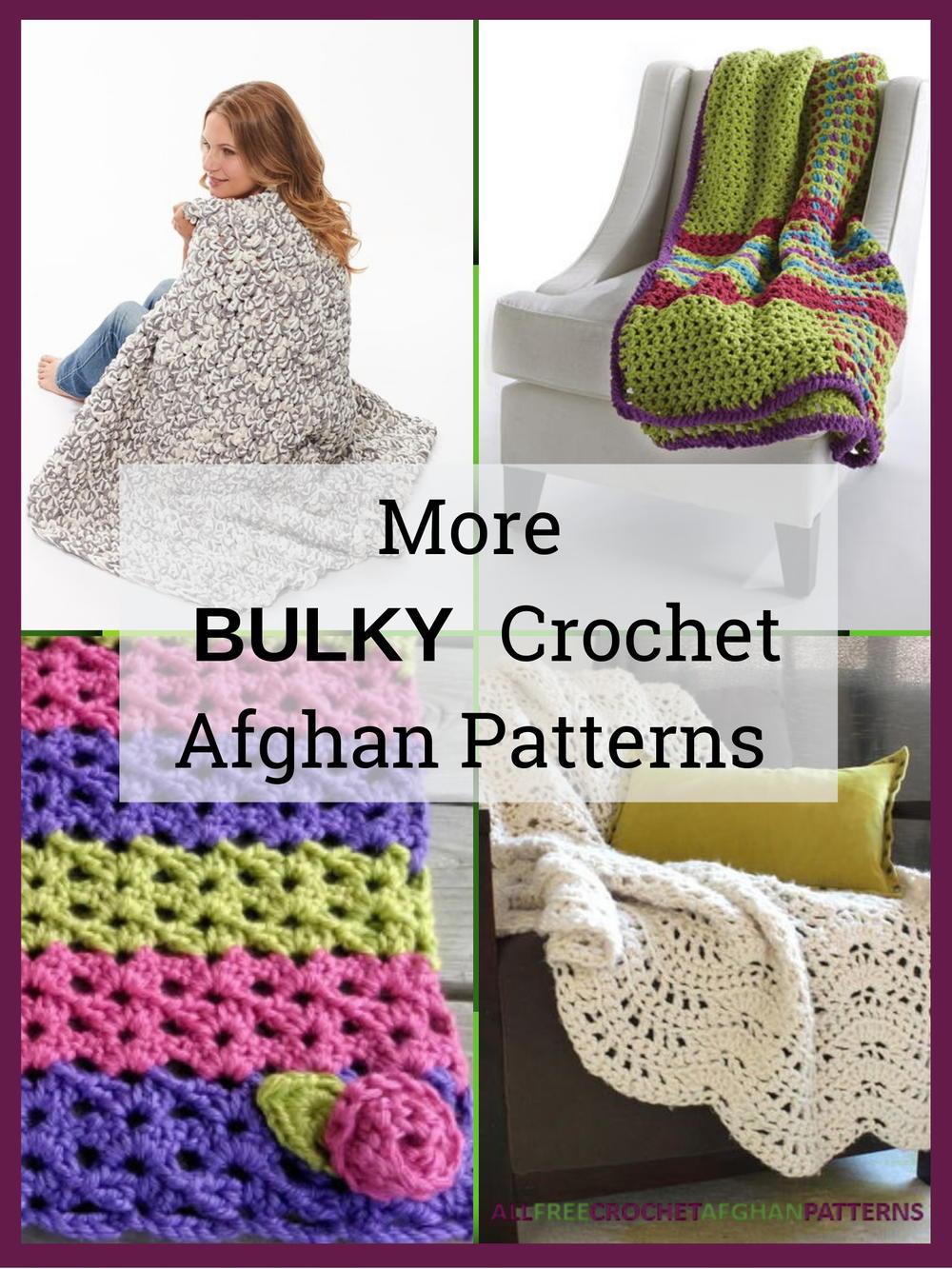 14 More Bulky Crochet Afghan Patterns Allfreecrochetafghanpatterns
