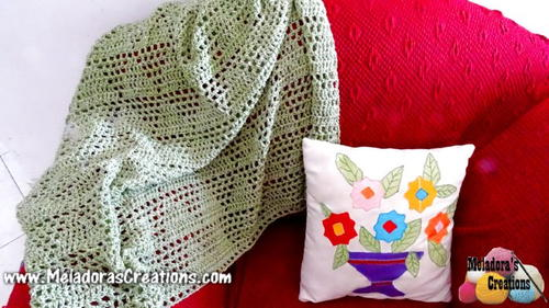 Diamond Lace Afghan