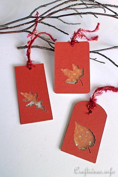 Autumn Leaves Shaker Tags