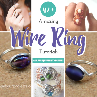 42 Amazing Wire Ring Tutorials