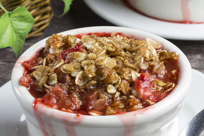Bubblin Strawberry Rhubarb Cobbler
