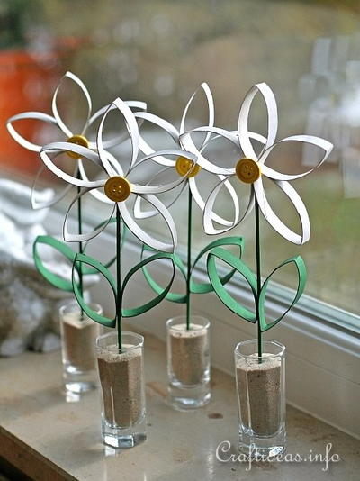 Daisy Toilet Paper Roll Craft