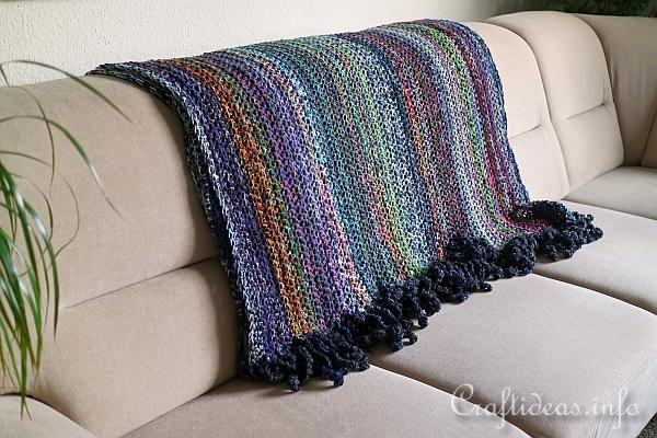 Crochet Afghan of Many Colors