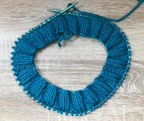 dc989521a9f The number of rows required to get to this point will be a little bit  different for each knitter