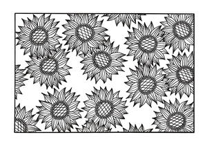 Bursting Sunflowers Coloring Pager | FaveCrafts.com