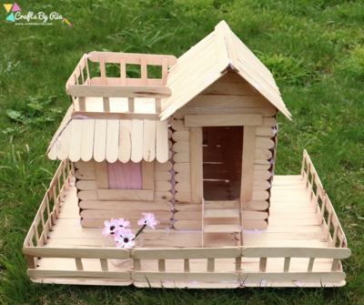 Popsicle Stick House Tutorial