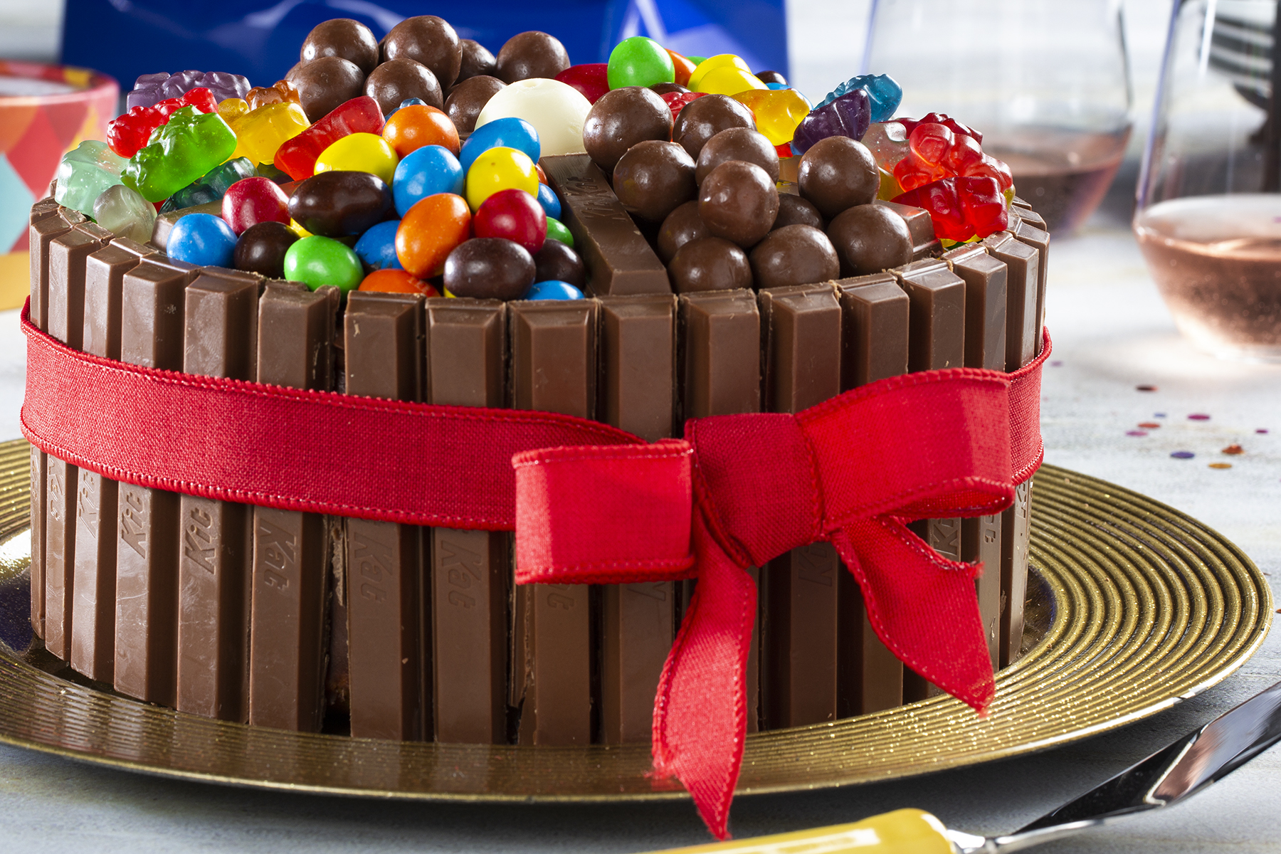 Fabulous Candy Dish Layered Cake Mrfood Com Funny Birthday Cards Online Bapapcheapnameinfo