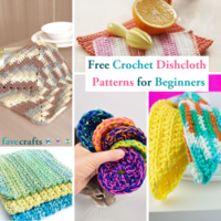 23 Free Crochet Dishcloth Patterns for Beginners