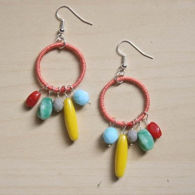Bead Soup Hoop Earrings