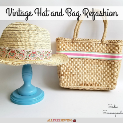 Vintage Hat and Bag Refashion