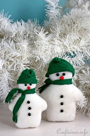 Sew Felt Snowmen for Christmas