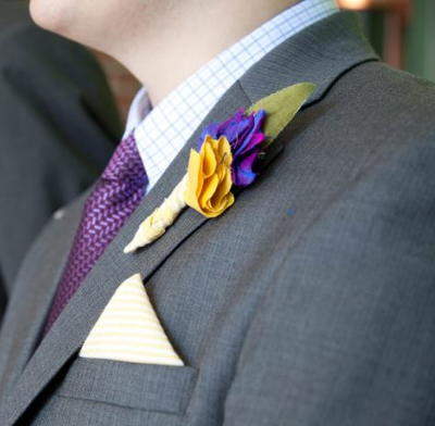 Scrap Fabric DIY Boutonniere Tutorial
