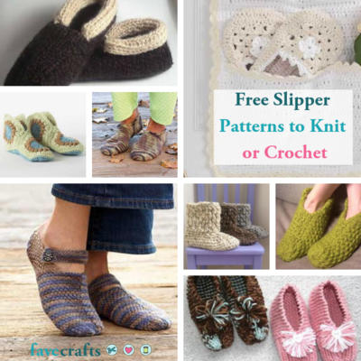 e6d99ed78325 17 Free Slipper Patterns to Knit or Crochet