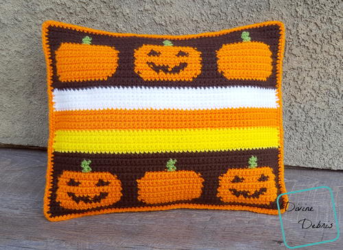 Smiling Pumpkins Pillow