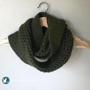 Moss Stitch Crochet Scarf Pattern