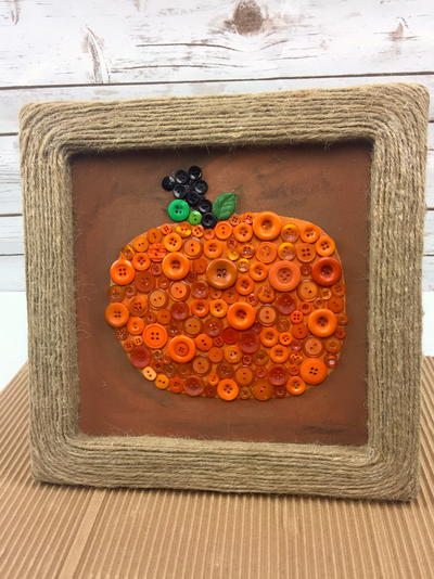 Pumpkin Button Wall Art