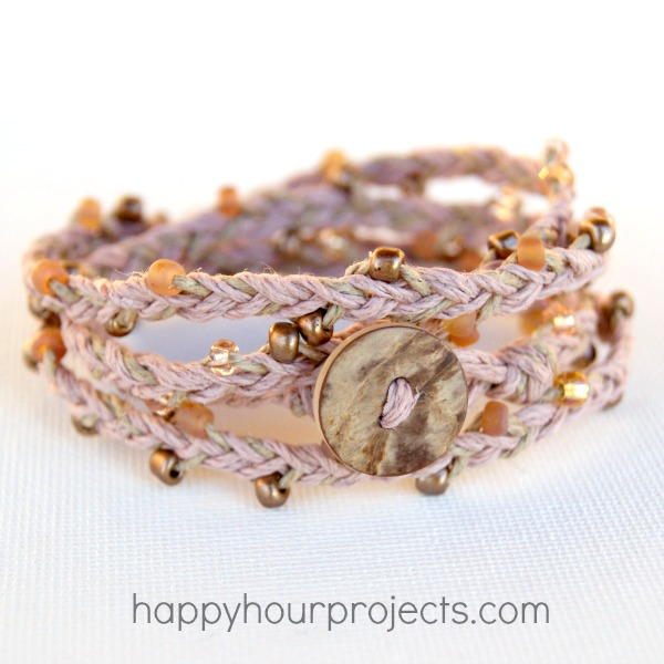 Beaded Hemp Wrap Bracelet