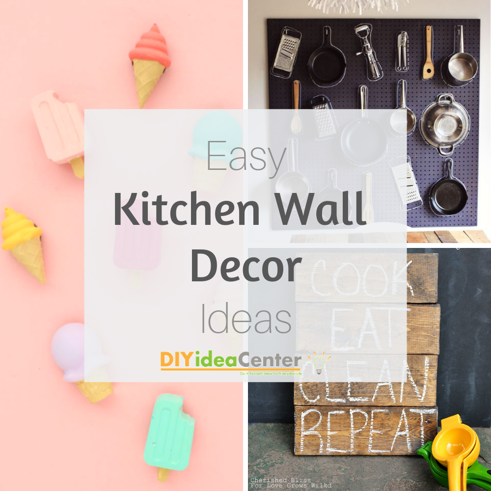 8 DIY Kitchen Wall Decor Ideas  DIYIdeaCenter.com