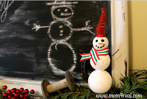 Cute as a Button Snowman