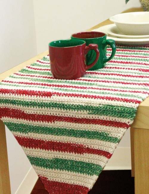 Stripe Crochet Table Runner Pattern