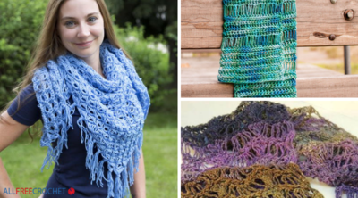17 Broomstick Lace Crochet Shawls, Scarves, and More