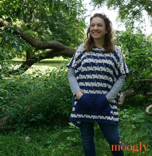 Chic Moves Crochet Poncho