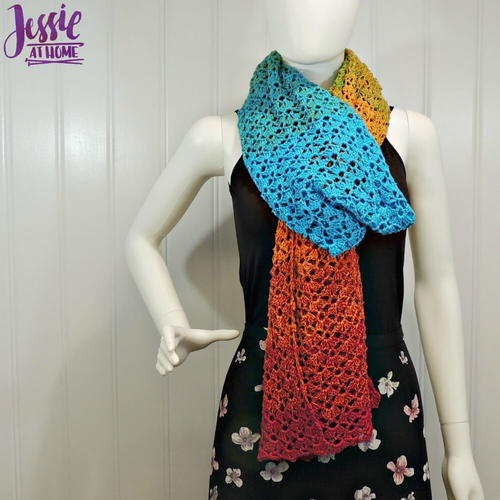 Vintage Shells Crochet Wrap