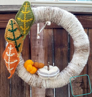 Simple Fall Crochet Wreath