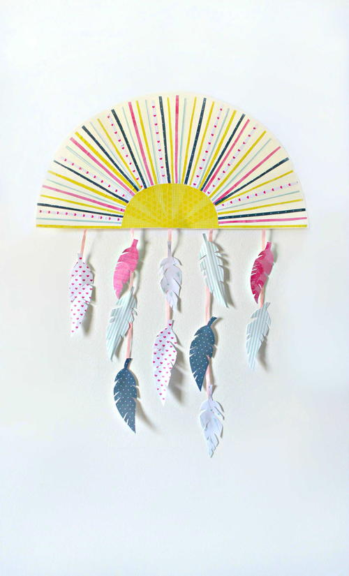 Sun and Feather Wall Decor