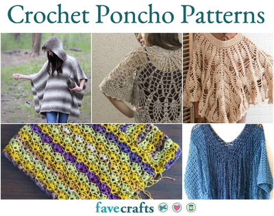 37 Free Crochet Poncho Patterns And Capelets Favecraftscom