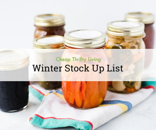 Winter Food Stock Up List