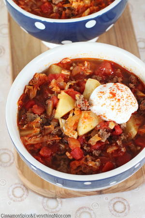 Slow Cooker Beef Goulash Soup