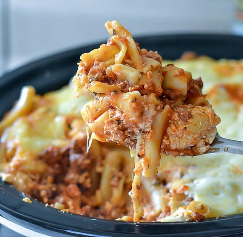 Slow Cooker Baked Ziti with Meat