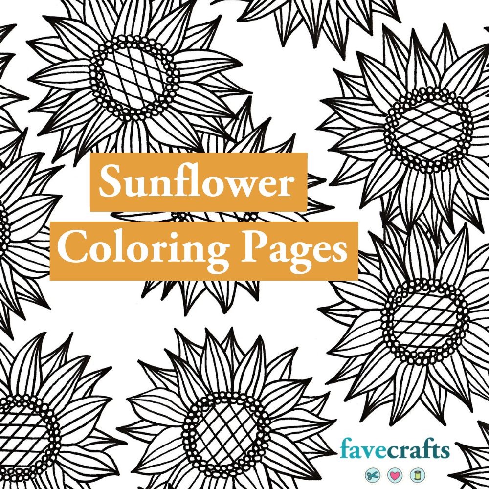 7 Sunflower Coloring Pages For Adults Favecrafts Com