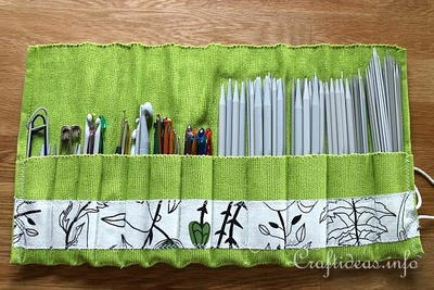 Placemat Organizer for Knitting/ Crochet Needles