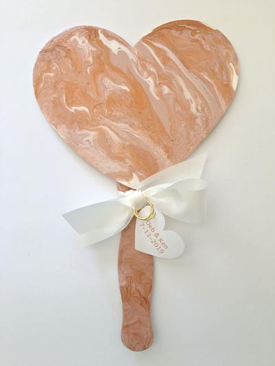 Heart Shaped Wedding Fans