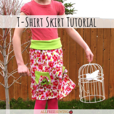 Girls T-Shirt Skirt Tutorial