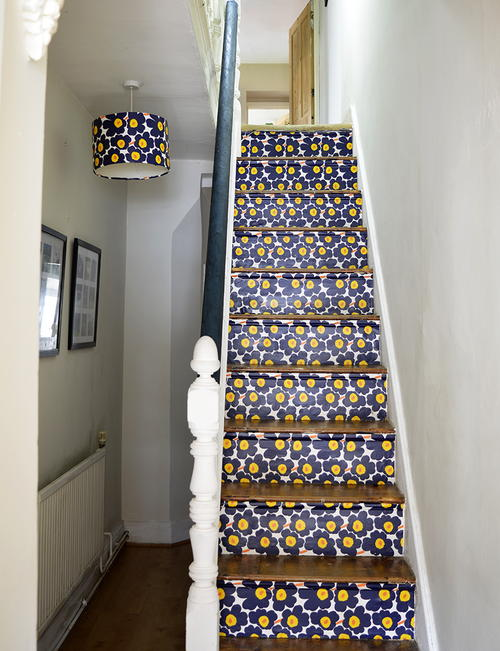 Transform Your Stairs With Wallpaper
