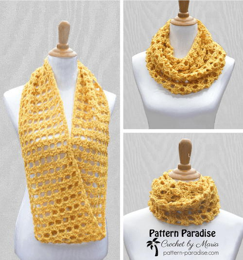 Butterscotch Crochet Cowl