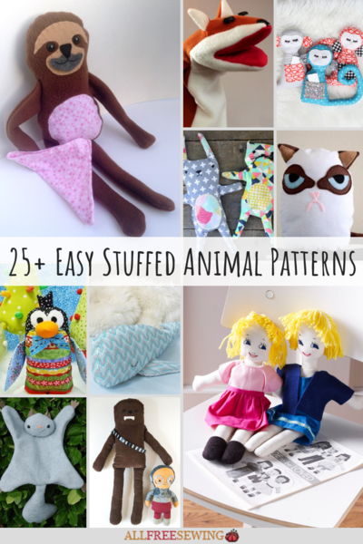 image about Free Printable Stuffed Animal Patterns called 25+ Basic Filled Animal Types