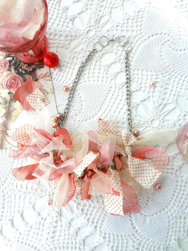 Romantic Boho Rag Necklace