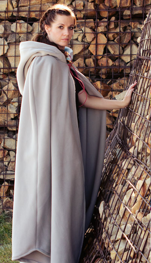 picture regarding Free Printable Cape Pattern called Lengthy Hooded Cloak (Absolutely free Sewing Behavior)