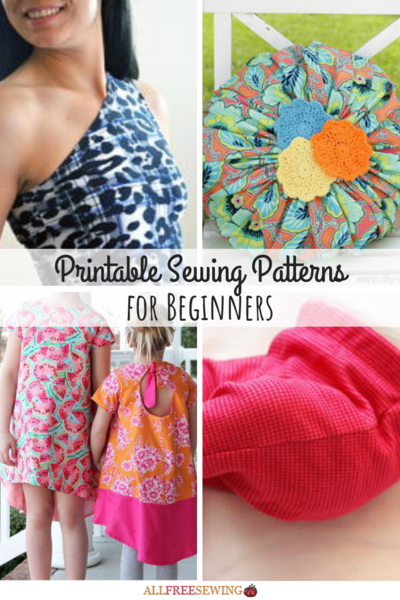 40 Printable Sewing Patterns for Beginners