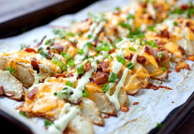 Restaurant-Style Loaded Potato Wedges