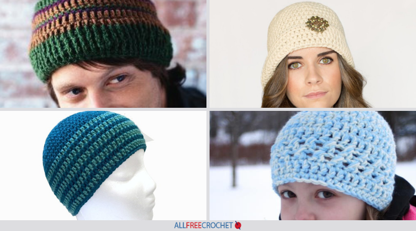 2f408516eef 29 Easy Crochet Hat Patterns