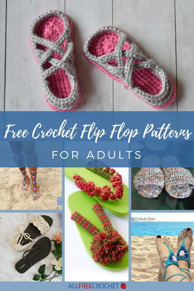 33 Free Crochet Flip Flop Patterns For Adults Allfreecrochetcom