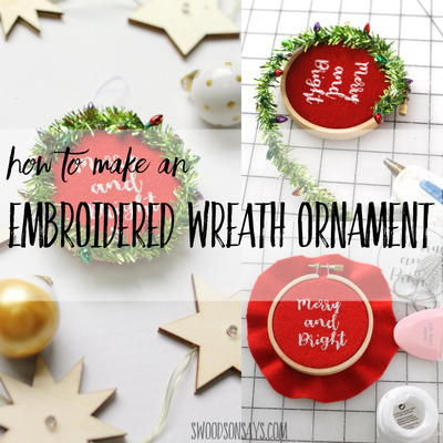Embroidered Wreath Ornament Tutorial