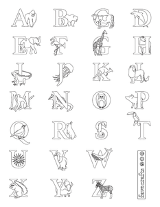 Free Printable Alphabet Coloring Pages - Easy Peasy and Fun | 300x233